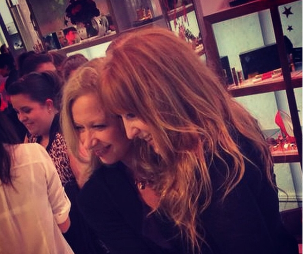 With her protege: make-up maestro Charlotte Tilbury