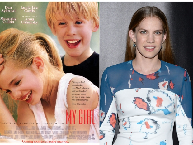 Child stars then and now: My Girl movie poster and Anna Chlumsky