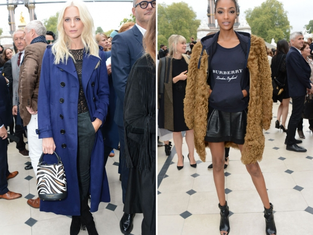 Poppy Delevingne and Jourdan Dunn at the show.