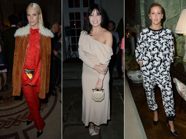Poppy Delevingne, Daisy Lowe and Ellie Goulding at the party.
