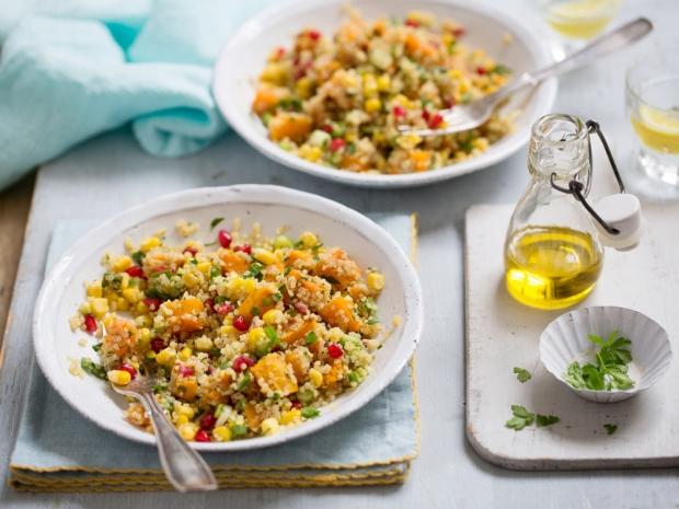 Butternut Squash and Sweetcorn Quinoa Salad