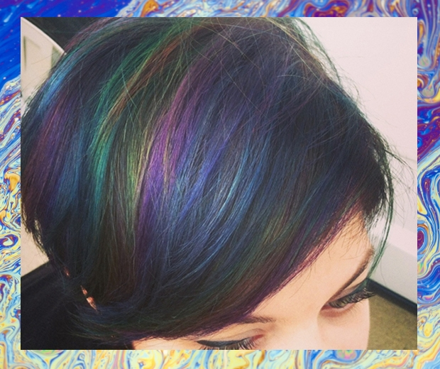 Oil slick hair is the instagram trend we cant wait to wear look so thats autumns it hair colour sorted then solutioingenieria Choice Image