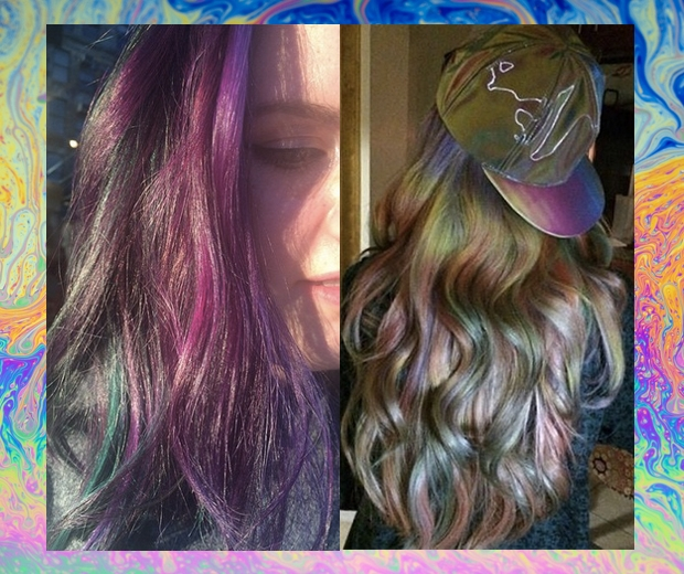 Oil slick hair is the instagram trend we cant wait to wear look photos solutioingenieria Choice Image