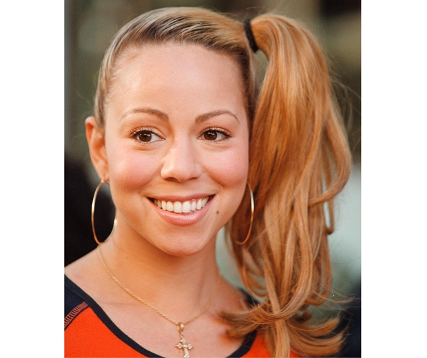 Mariah Carey rules 90s beauty with this side ponytail