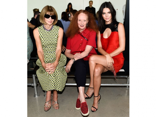 Anna Wintour, Grace Coddington and Kendall Jenner on the FROW.