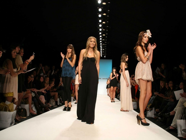 Lauren Conrad on her 2008 catwalk.
