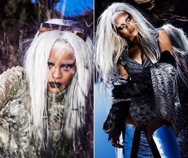 rihanna with grey hair for tush magazine