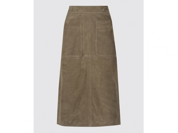 The M&S skirt now comes in a gorgeous olive green.