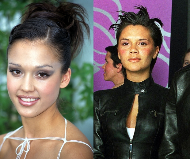 Even Victoria Beckham and Jessica Alba got involved in the spiky hair action