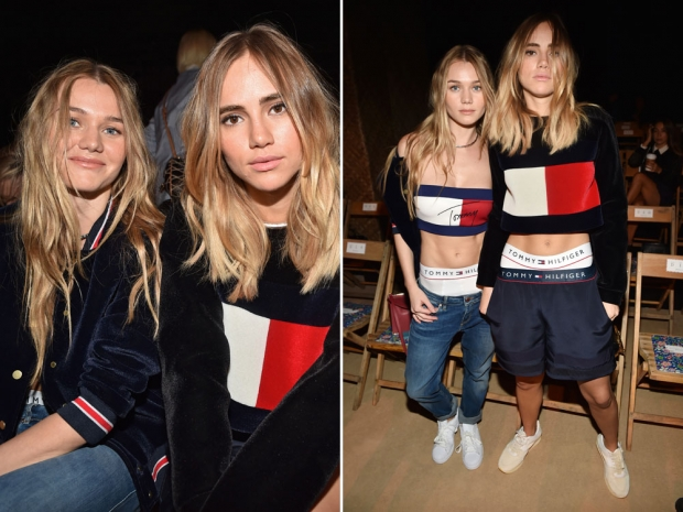 Suki and Immy Waterhouse on the FROW.