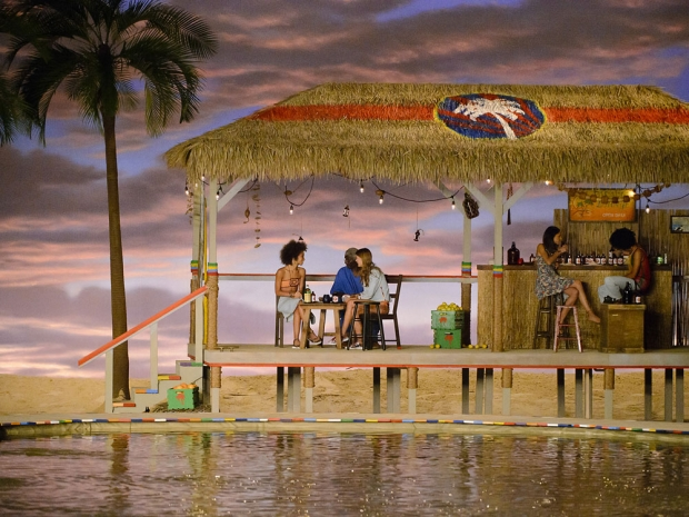 The beach-bar shack of Tommy Hilfiger's catwalk.