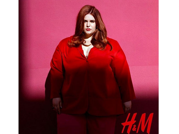 Tess Holliday in her H&M campaign.