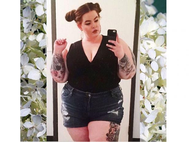 Tess Holliday in an Instagram selfie.