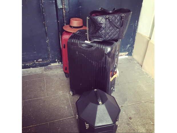 Diane uploaded a picture of her packed bags to Instagram