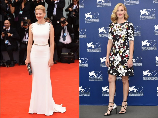 Elizabeth Banks chose Dolce and Gabbana for her Venice wardrobe