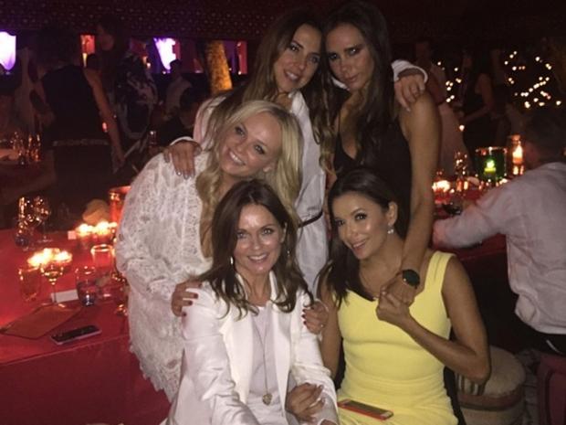 The Spice Girls at David Beckham's 40th birthday