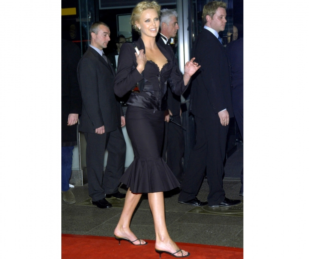 Charlize Theron dons a kitten heel back in 2004