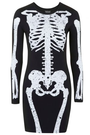 Topshop Skeleton Print Mini Dress, £28