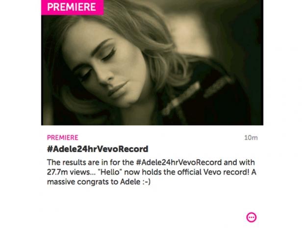 Vevo's Adele announcement