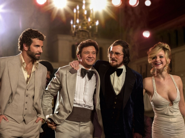 Jennifer Lawrence and Bradley Cooper in a still from American Hustle.
