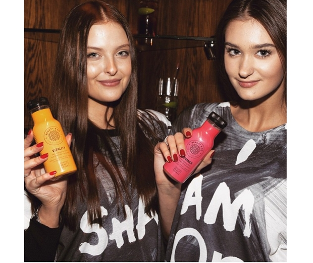 Models backstage can't get enough of the beauty drinks