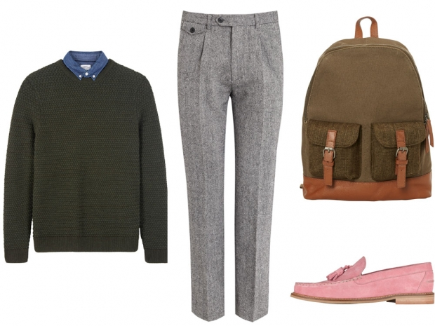 Boys take not, casual workwear does not mean sloppy.