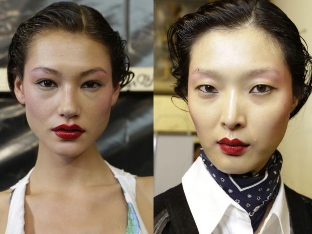 Chalayan makeup paris fashion week