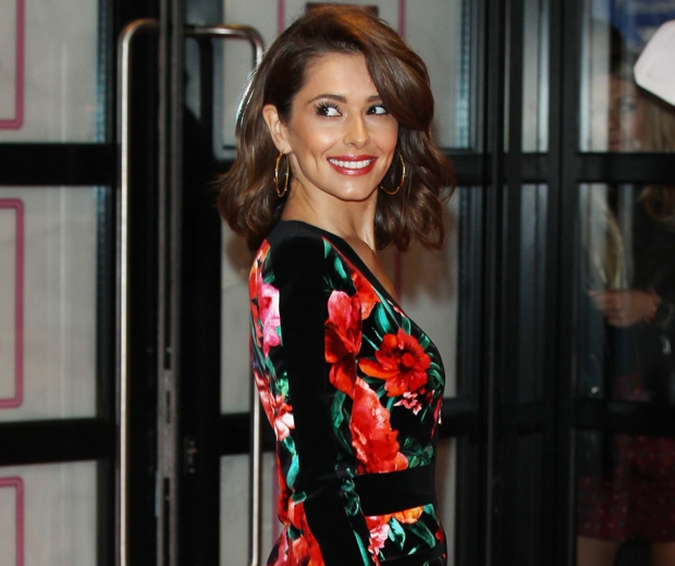 cheryl fernandez versini  in floral balmain dress