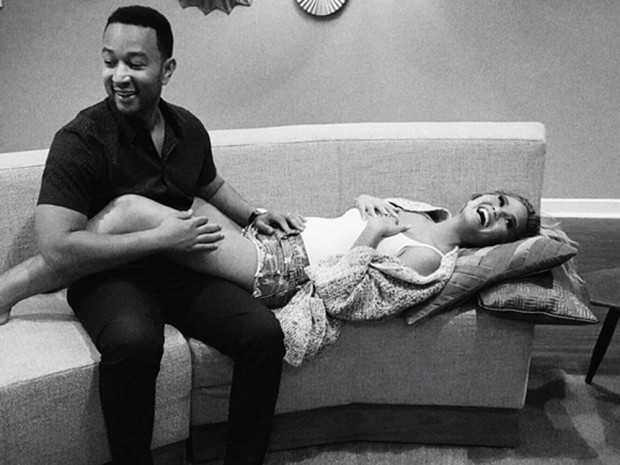 Chrissy Teigen announced her pregnancy via Instagram.