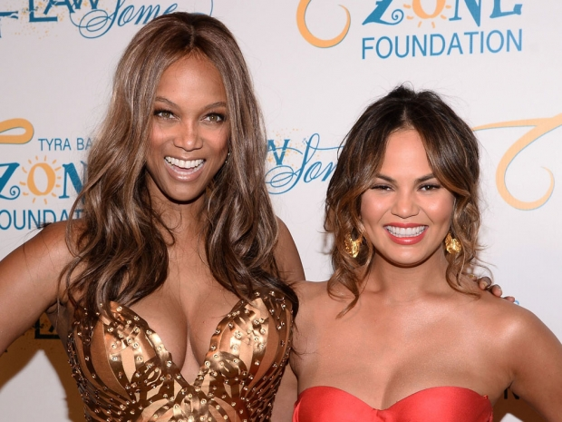 Chrissy Teigen and Tyra Banks