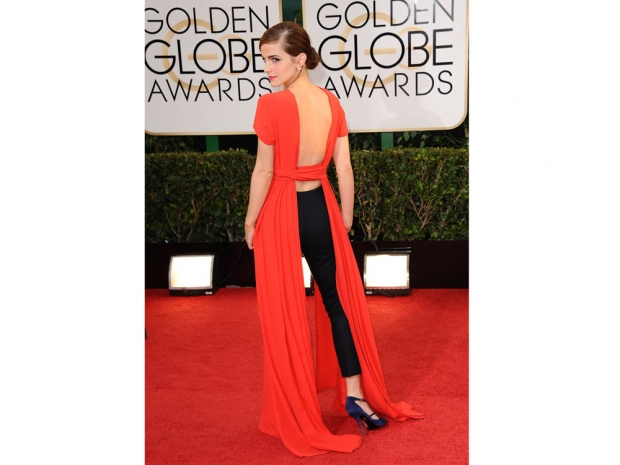 Emma Watson at the Golden Globes in 2014.