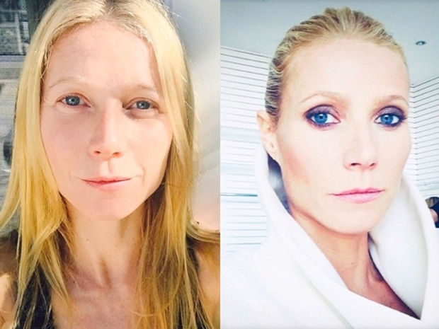 gwyneth paltrow no makeup selfie