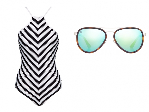 A Seafolly swimsuit and Taylor Morris sunglasses from online boutique Beach Cafe