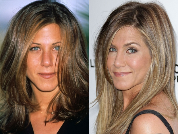 Jennifer Aniston with her 'Rachel' haircut