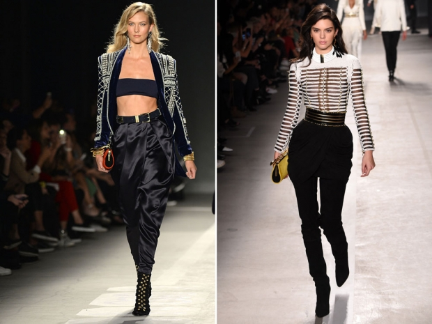 Karlie Kloss and Kendall Jenner strut their stuff.