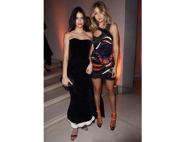 Kendall Jenner and Gigi Hadid at Vogue's Paris Fashion Week Party