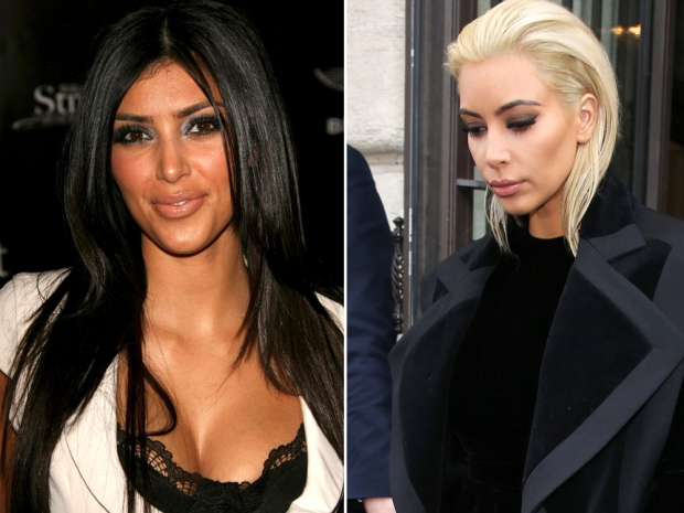 Kim Kardashians face changes