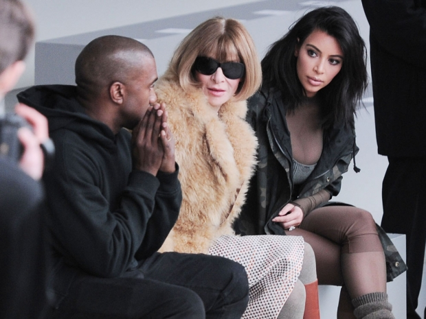 Kim Kardashian, Anna Wintour and Kanye West