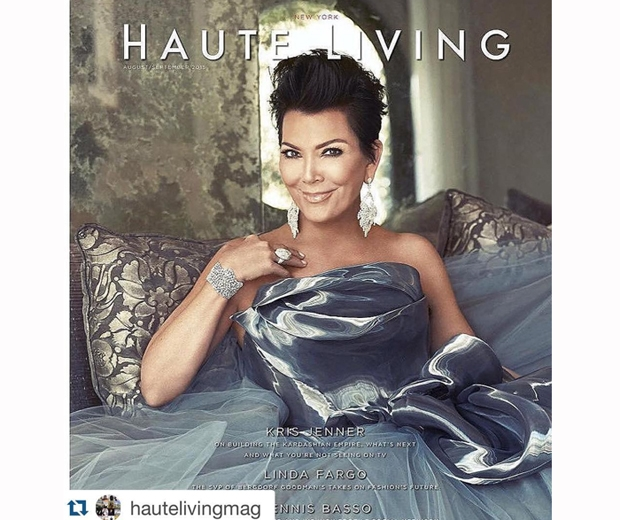 kris jenner for Haute Living magazine