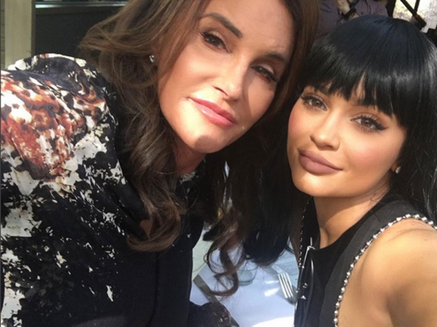 Kylie Jenner and Caitlyn Jenner at Caitlyn's birthday lunch.