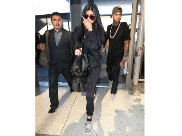 Kylie Jenner and Tyga step out in Kanye's Yeezy Boost 350s