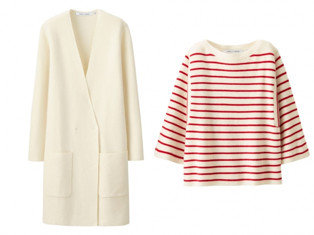 This cream coat and Breton knit just jumped right to the top of my wish list.