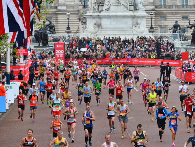 Runners during the London Marathon
