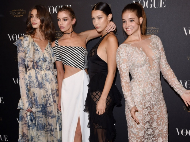 Models at Vogue's Paris Fashion Week Party