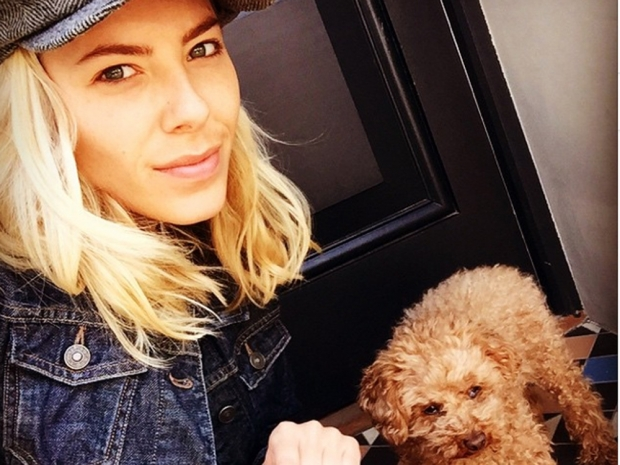 Mollie King with no makeup on in Instagram selfie
