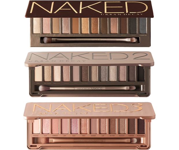 The original Naked, Naked2 and Naked3 palettes
