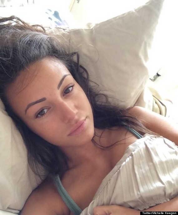 michelle keegan no makeup selfie