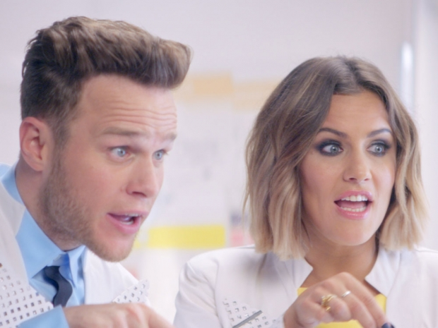Olly Murs and Caroline Flack in The X Factor trailer