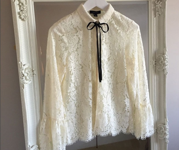 Primark's must-have lace blouse, £18
