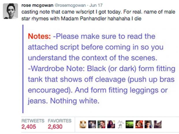 Rose McGowan Tweet